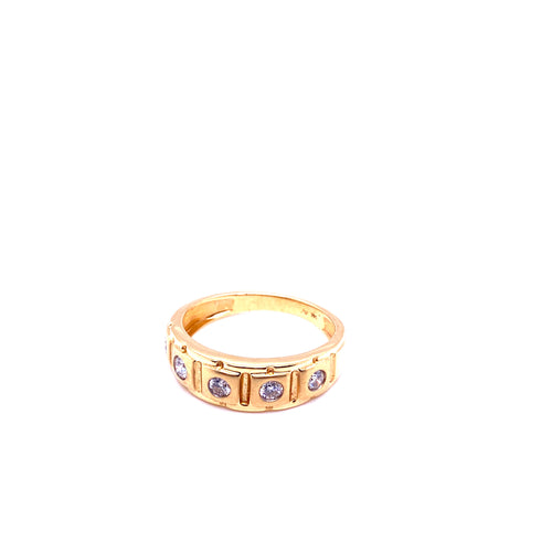 0.50Ctw 14K Yellow Gold Wedding Band with Diamonds Size 10 5.13 Grams