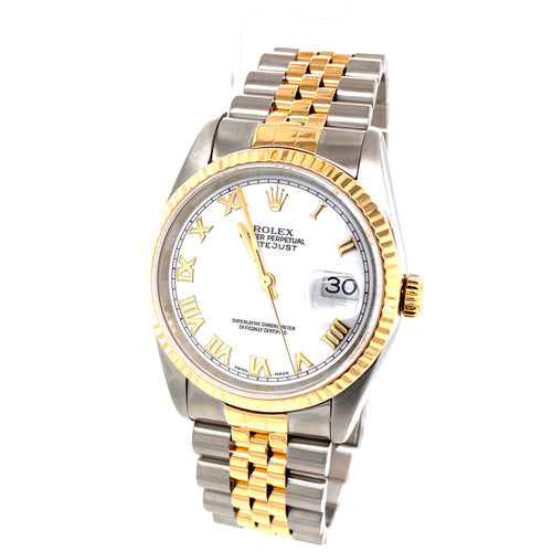 Rolex Datejust 36Mm 18K Two Tone Ref # 16233 64.7Dwt 20 Links with Box