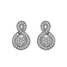 10K White Gold Round Diamond Earring 1 / 5CTW