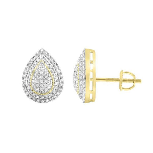 10K Gold Round Diamond Earring 1 / 4CTW