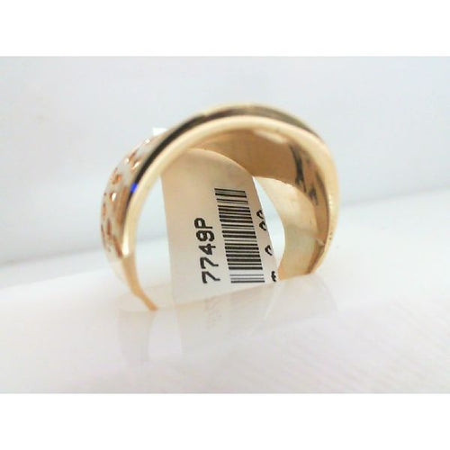 14K Gold Ring Dome 4.66 Grams Size 8