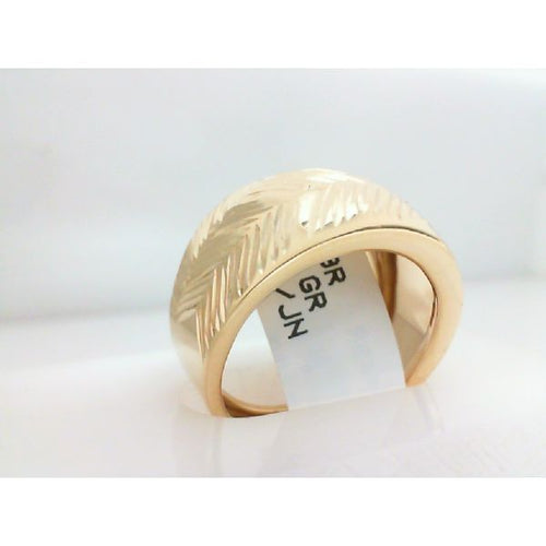 14K Gold Ring Dome 3.57 Grams Size 8.5