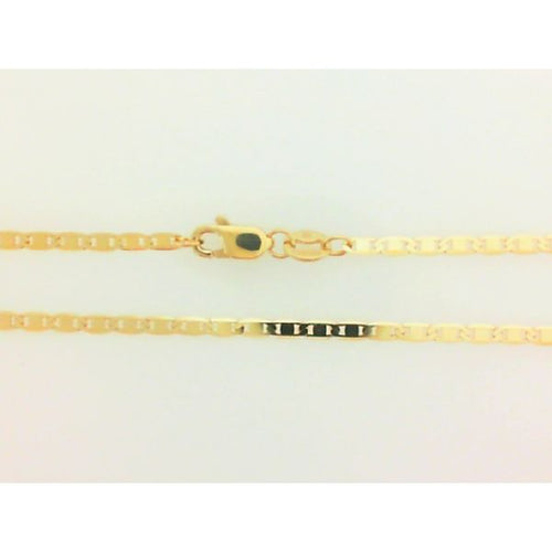 10K Yellow Gold Flat Gucci Link 2MM 16 Inches 2.79 Grams