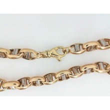 10K Two Tone Chain Link Gucci 7.5MM 22.25 Inch 36.54 Grams