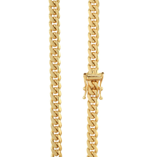 10K Yellow Gold Cuban Chain 5mm 26 Inches 42.61 Grams