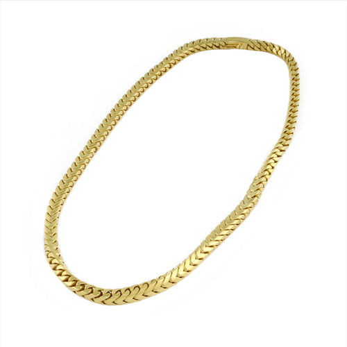 14K Yellow Gold Semi Solid Franco Link Chain 6mm 18.5 Inches 37.63 Grams