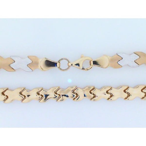 14K Two Tone Link Necklace