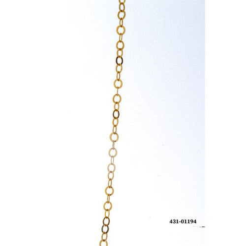 14K Yellow Gold Cable Link Necklace 18.5 Inch