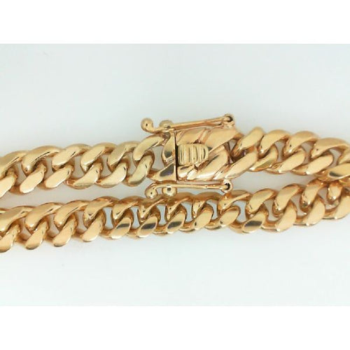 14K Gold Cuban Handle 8.75 inches 8.5MM