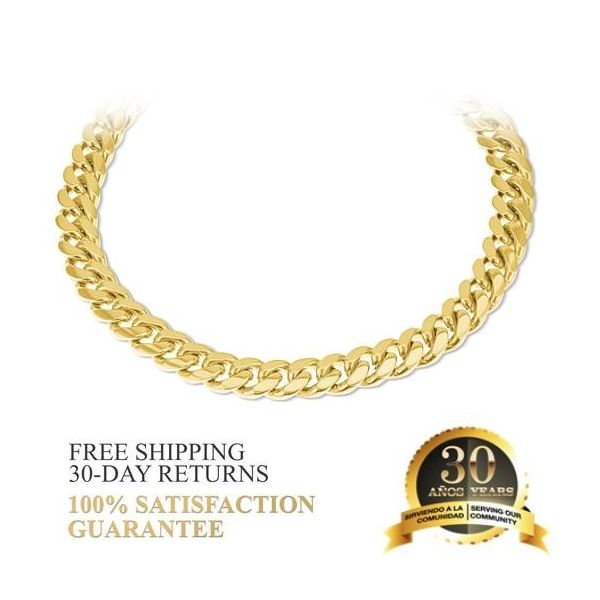 14K Gold Miami Cuban Link Bracelet 8.75 inches 8.5MM