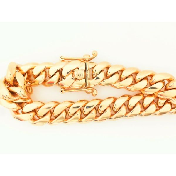 14K Gold Miami Cuban Link Bracelet 8.5 inches 13MM