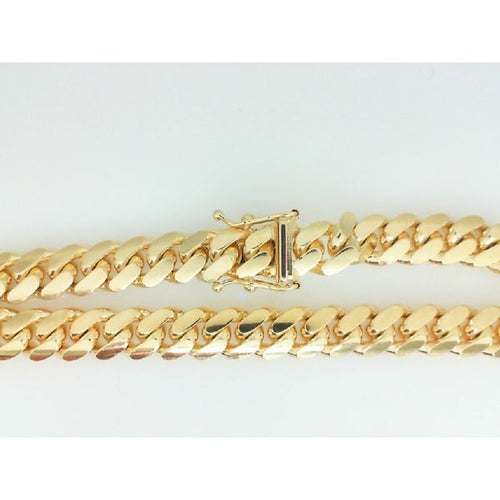 14K Yellow Gold Cuban Handle 7MM 8.5 Inches