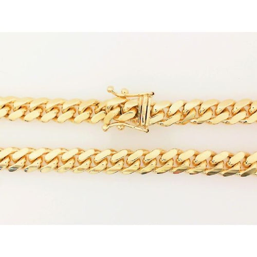 14K Yellow Gold Cuban Handle 8.5 Inches 6MM