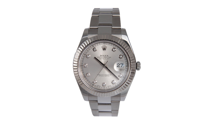 Rolex SCR # Datejust Diamond Dial Ref # 16334 Serial # P9V24353 12 LINK 97.7DWT COMES WITH BOX