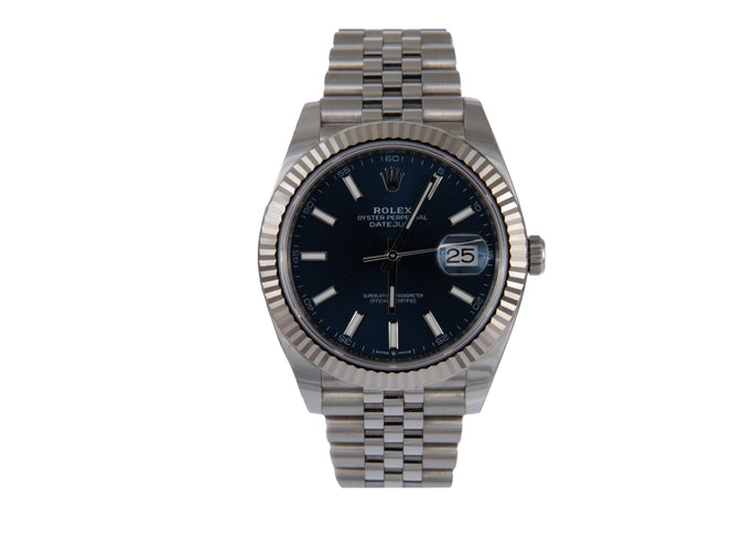 Rolex 2019 Datejust 40Mm Blue Dial Ref # 126334 Serial # 36Zj2352 85.3Dwt 23 Links Comes With Box Card And Manual