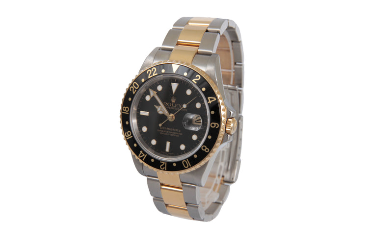 2005-2006 18K Rolex Two Tone Gmt Master II 38mm Ref # 16713T Serial: D482098 Comes with Box 86.4Dwt