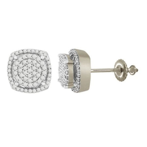 Round Diamond Silver Earring 0.33CTW