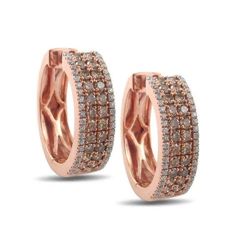 Cappuccino Diamonds Rose Gold Earring 1.50CTW