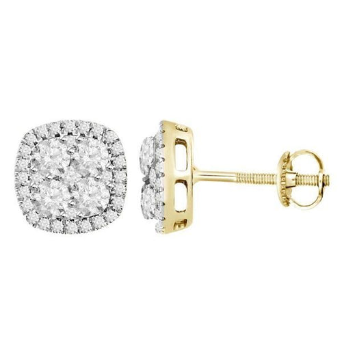 14K Gold Round Diamond Earring 1.0CTW