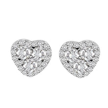 14K White Gold Round Diamond Earring 7 / 8CTW