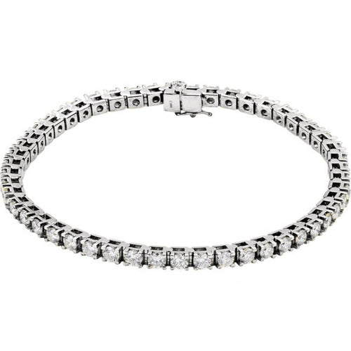 5CTW 14K White Gold Diamond Bracelet 7.25 Inches