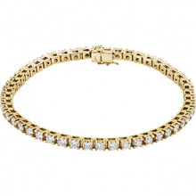 5CTW 14K Yellow Gold Diamond Bracelet 7.25 Inches