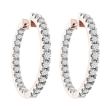Round Diamond 10K Rose Gold Earring 2.0CTW