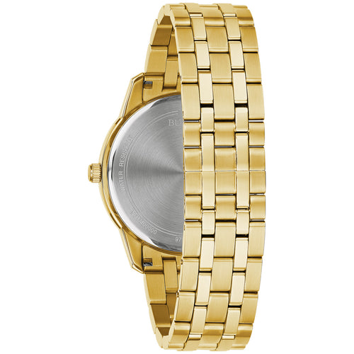 Bulova Sutton Yellow Gold Watch with 8 Diamonds 40MM Stainless Steel Model 97D123