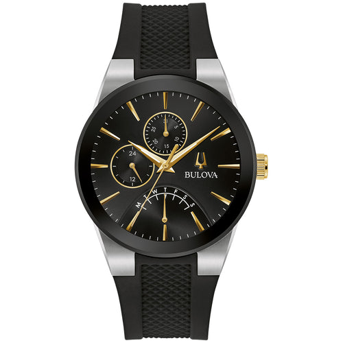 Bulova Future 41MM Black Dial With Yellow Gold Stainless Steel Model 98C138