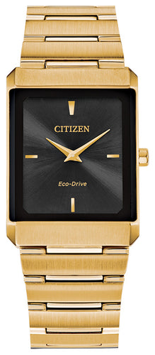 Citizen Stiletto Yellow Gold Watch Stainless Steel Sapphire Crystal 28x38MM Model AR3102-51E