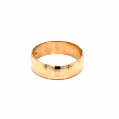 14K Yellow Gold 6MM Engagement Ring Size 7