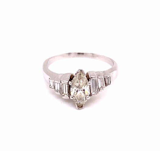 14K Yellow Gold Diamond Engagement Ring Size 7