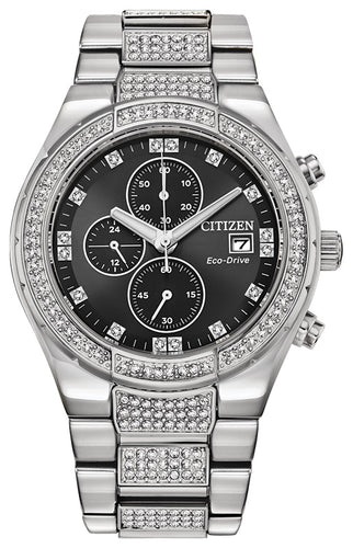 Citizen Crystal Watch with Swarovski Crystals 42MM Model CA0750-53E