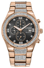 Citizen Crystal Rose Gold Watch with Swarovski Crystals 42MM Model CA0753-55E