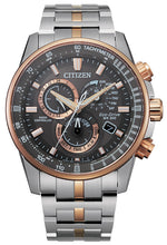 Citizen PCAT Rose Gold Two Tone Stainless Steel Sapphire Crystal 43MM Model CB5886-58H