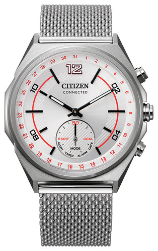 Citizen Smart Watch Stainless Steel with White Dial 42MM Model CX0000-71A