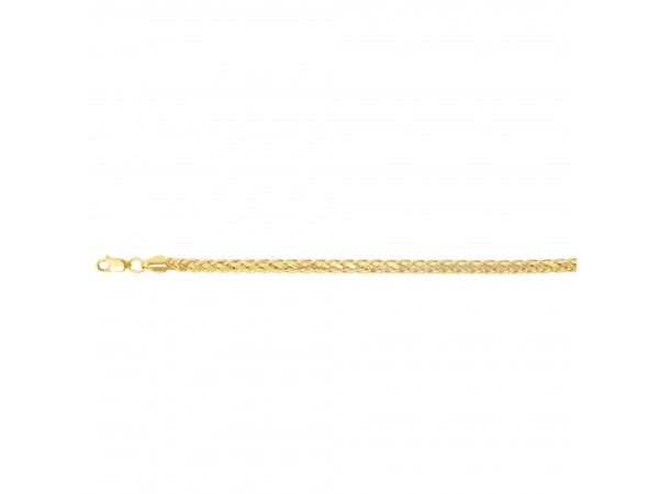 14K Yellow Gold 4.5MM 24 Inch Diamond Cut Franco Link Chain