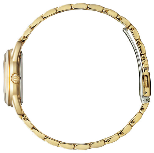Citizen Yellow Gold Watch Woman Mineral Crystal 27MM Model EM0682-74A