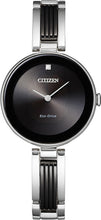 Citizen Two Tone Ladies Watch with 1 Diamond Stainless Steel 28MM Model EX1538-50E