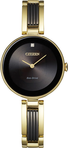 Citizen Two Tone Ladies Watch with 1 Diamond Stainless Steel 28MM Model EX1539-57E