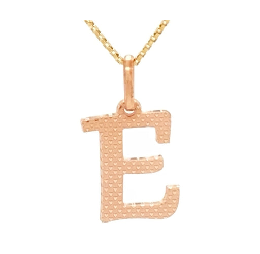 14K Pink Gold Pendant Customizable Letters 3/4