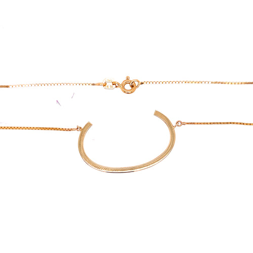 14K Yellow Gold Initial C Necklace 4.27 Grams