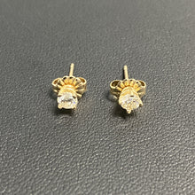 0.35Ctw 14K Yellow Gold Diamond Earring