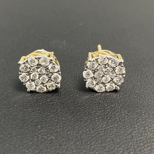 1.01Ctw 14K Two Tone Diamond Earring