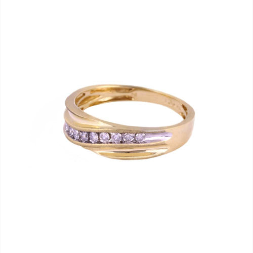 0.25Ctw 10K Yellow Gold Wedding Band with Diamonds Size 10 3.11 Grams