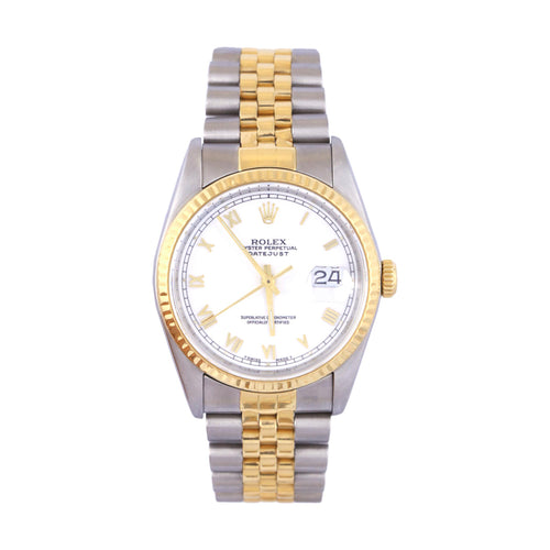 1989 18K Two Tone Rolex Datejust Jubilee Band Ref # 16233 Serial # L276994 19 Links 63.1Dwt Comes With Box