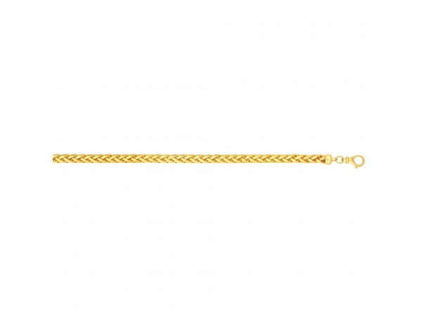 14K Yellow Gold 8.75 Inch 4MM Frank Link Chain