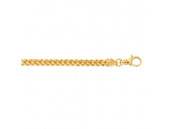 14K Yellow Gold 24 Inch Franco Link Chain