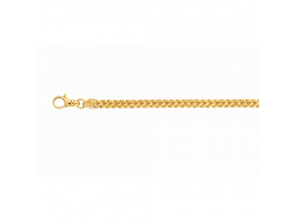 14K Yellow Gold 24 Inch 4.4MM Frank Link Chain