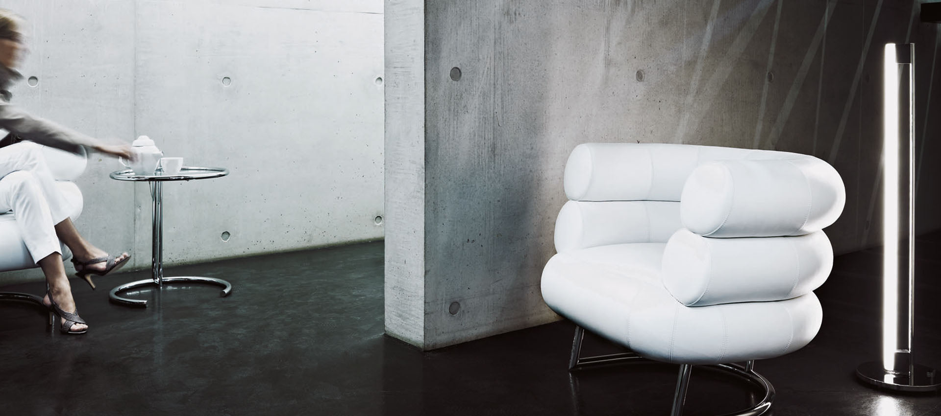 Bibendum lounge chair by Eileen Gray